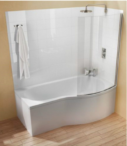 Cleargreen Ecoround Shower Bath 1500 x 900mm
